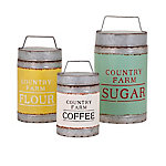 Dairy Barn Decorative Lidded Containers, Set of 3