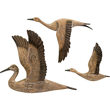 Reeds Migration Wood Wall Decor, Set of 3