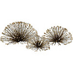 Laserette Wire Flower Wall Decor, Set of 3