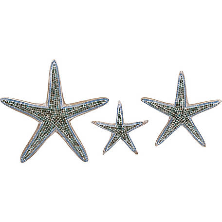 Mosaic Star Fish Wall Decor, Set of 3