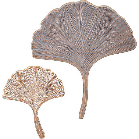 Trisha Yearwood Luxe Ginkgo Wall Decor, Set of 2