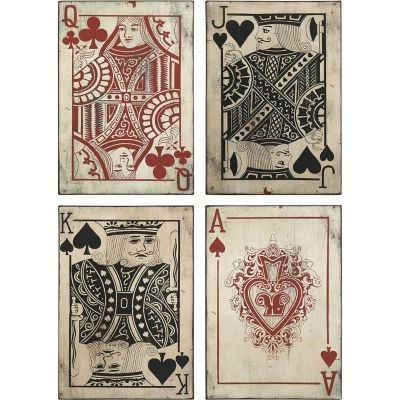 Buy Leonato Playing Card Wall Decor; Set of 4 Online