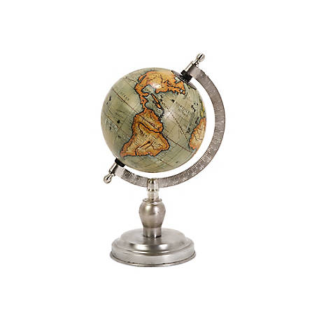 Colombo Small Globe with Nickel Finish Base