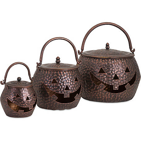 Lidded Pumpkins Brown, Set of 3