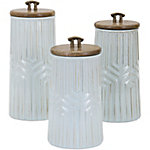 Tia Canisters, Set of 3