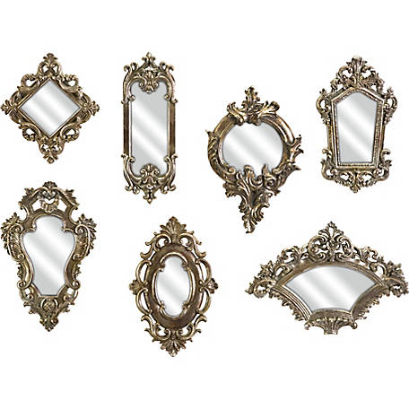 Loletta Victorian-Inspired Mirrors, Set of 7