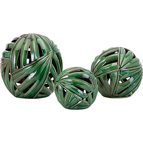 Palmetto Decorative Balls Pack Of 3