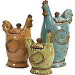 Cherda Lidded Roosters, Pack of 3