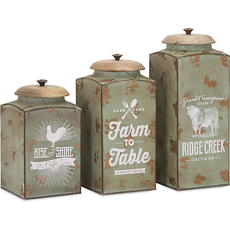 Farmhouse Lidded Canisters, Pack of 3