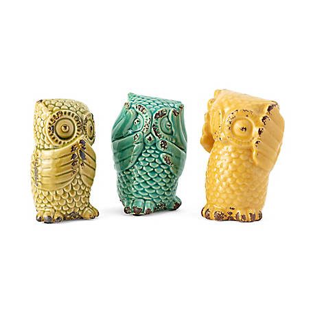 Wise Owls, Pack of 3