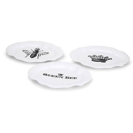 Trisha Yearwood Home Collection Honey Bee Plates, Pack of 3