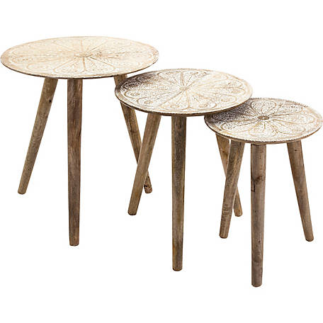 Cashel Round Tables, Pack of 3