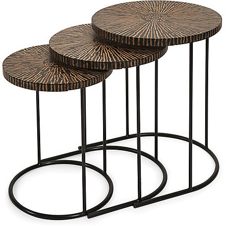 Hoki Coco Shell Tables, Pack of 3