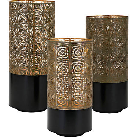 Manhattan Pierced Lanterns, Pack of 3