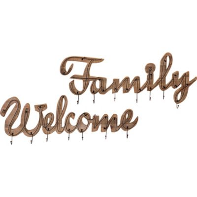 Buy Welcome and Family Wall Hooks; Pack of 2 Online