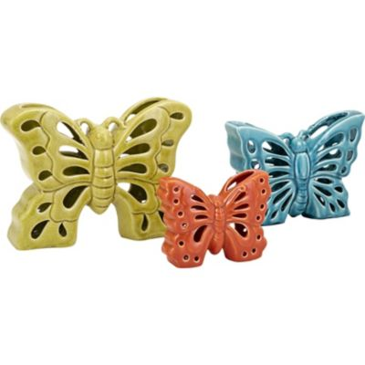 Denna Ceramic Butterflies; Pack of 3