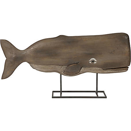 Achilles Carved Wood Whale Statue