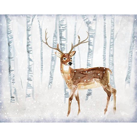 Designs Direct Deer In Winter Wonderland 12 In X 16 In Canvas Wall Art At Tractor Supply Co