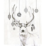 Designs Direct Decorated Deer Antlers 16 in. x 20 in. Canvas Wall Art