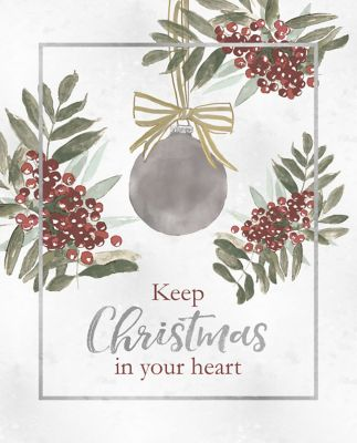 Buy Designs Direct Vintage Christmas Card 16 in. x 20 in. Black Framed Canvas Online