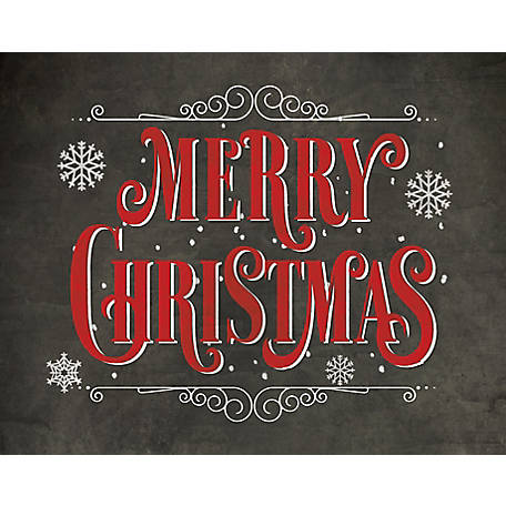 Christmas Chalkboard.Designs Direct Merry Christmas Chalkboard Print 11 In X 14 In Black Framed Canvas At Tractor Supply Co