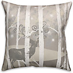 Designs Direct Magical Christmas Forest 18 in. x 18 in. Spun Poly Pillow