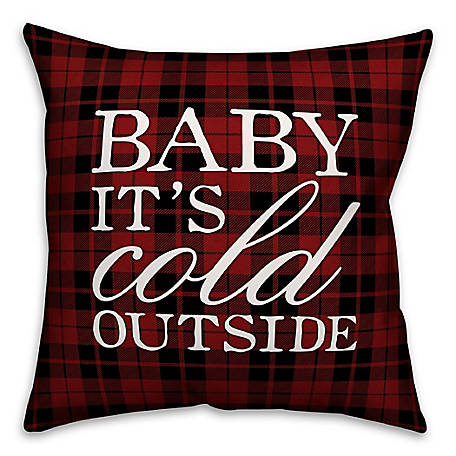 Designs Direct Baby It's Cold Outside 18 in. x 18 in. Spun Poly Pillow