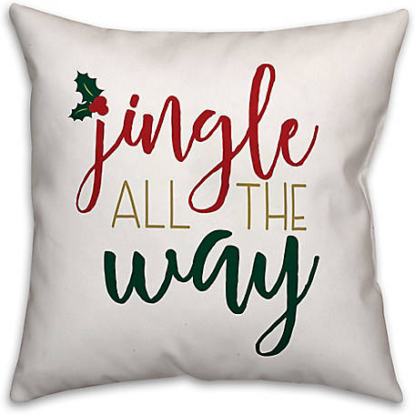Designs Direct Jingle All the Way 18 in. x 18 in. Spun Poly Pillow