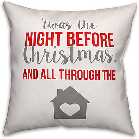 Designs Direct Night Before Christmas 16 in. x 16 in. Spun Poly Pillow