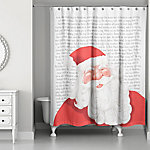 Designs Direct 'Twas the Night Before Santa 71 in. x 74 in. Shower Curtain