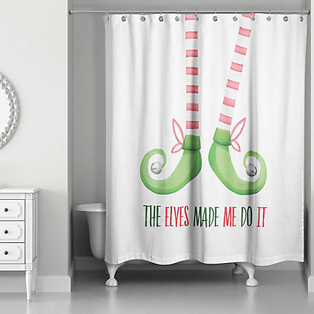 Designs Direct Elves Made Me 71 In X 74 Shower Curtain