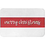 Designs Direct Merry Christmas Stripes 34 in. x 21 in. Bath Mat