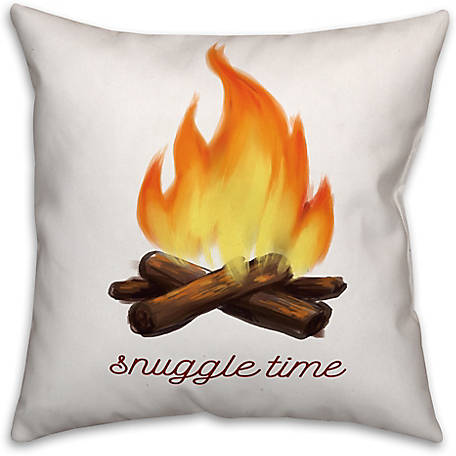 Designs Direct Snuggle Time 16 in. x 16 in. Spun Poly Pillow