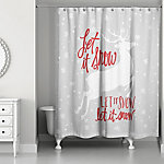 Designs Direct Let It Snow My Deer 71 in. x 74 in. Shower Curtain