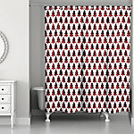 Designs Direct Plaid Tree 71 in. x 74 in. Shower Curtain