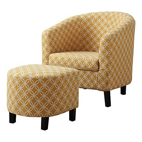 Surprising Monarch Specialties 2 Piece Accent Chair And Ottoman Set Circular Fabric At Tractor Supply Co Bralicious Painted Fabric Chair Ideas Braliciousco