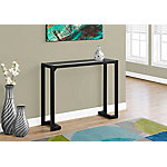 Monarch Specialties 42 in. L Tempered Glass Hall Console