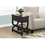 Monarch Specialties Accent Table, Cappuccino with Drawer
