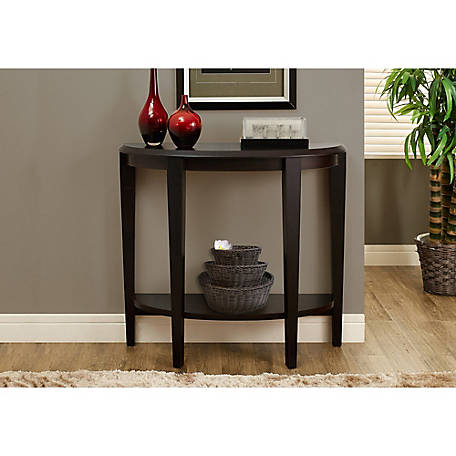 Monarch Specialties 36 in. L Cappuccino Hall Console