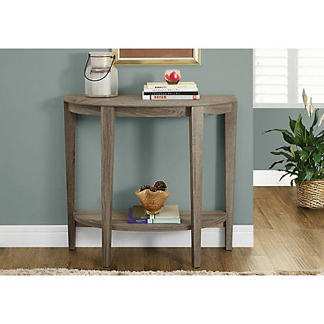 Monarch Specialties 36 in. L Dark Taupe Hall Console