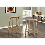 Monarch Specialties 24 in. H Saddle Seat Barstool, Pack of 2
