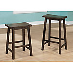 Monarch Specialties 29 in. H Saddle Seat Barstool, Pack of 2