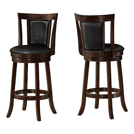 Monarch Specialties 43 in. H Swivel Barstool, Cappuccino Bar Height