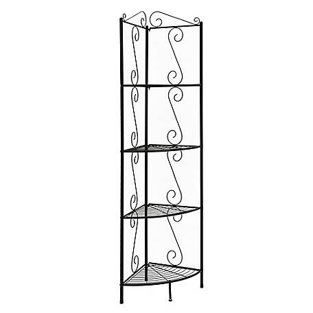 Monarch Specialties 70 in. H Copper Metal Corner Etagere
