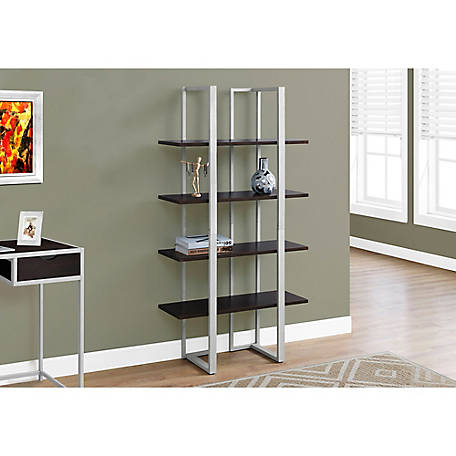Monarch Specialties 60 in. H Two Tone Bookcase