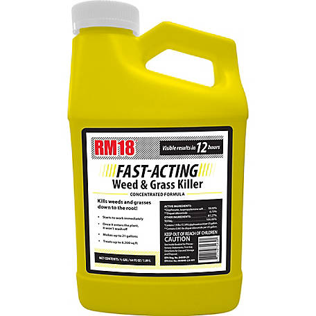 Ragan & Massey RM18 Fast-Acting Grass & Weed Killer with Diquat 64 oz., 75439