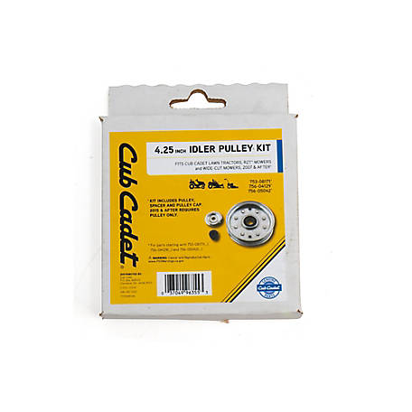 Arnold Cub Cadet Idler Pulley Kit Fits Cub Cadet Lawn Tractors, RZT Mowers and Wide-Cut Mowers, 2007 and after, 490-130-C012