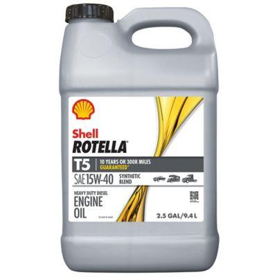 Buy Shell RotellaT5 10W-40 Diesel Engine Oil; 2.5 gal. Online