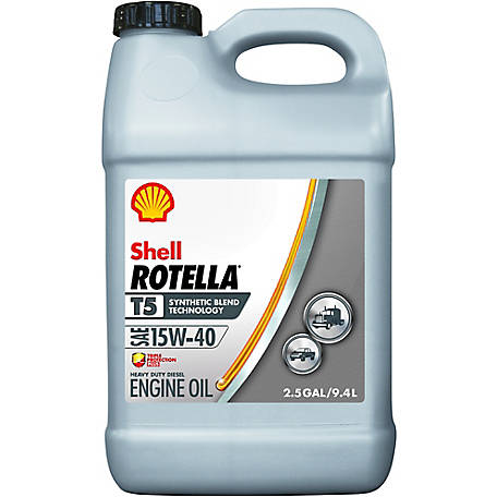 Shell Rotella T5 15W-40 Diesel Engine Oil, 2.5 gal.