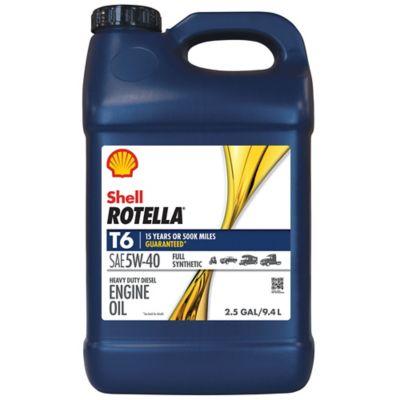 Buy Shell ROTELLA T6 Full Synthetic 5W-40 Heavy-Duty Motor Oil; 2.5 gal. Online